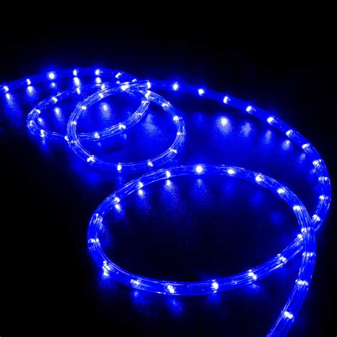 light blue led lights 50 blue led rope light home outdoor lighting