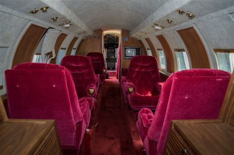 elvis private jet flying like the king elvis presley s private jet up for
