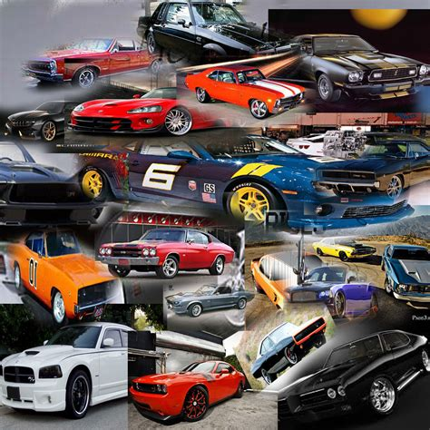 Modern Wall Art by Muscle Cars Collage Natebranch