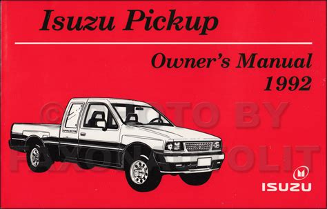 where to buy car manuals 1992 isuzu space parking system new 1992 isuzu pickup truck owners manual oem owner user guide book ebay