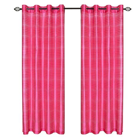 fuschia curtains lavish home fuschia maggie grommet curtain panel 84 in