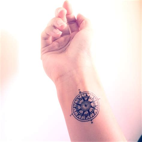 compass tattoo temporary 2pcs vintage compass tattoo travel inknart temporary
