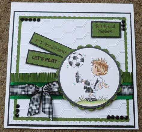 Handmade Football Cards - lili of the valley footballer lotv nephew football