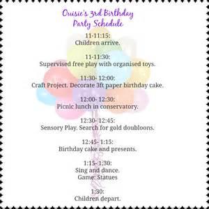 birthday itinerary template sle birthday itinerary just b cause