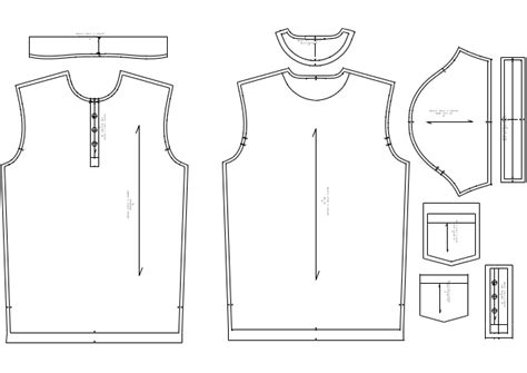 shirt pattern drawing basic polo t shirt pattern