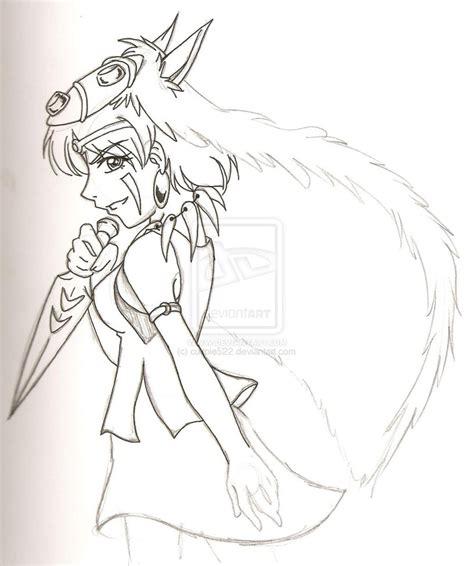 princess mononoke coloring pages how to draw princess mononoke