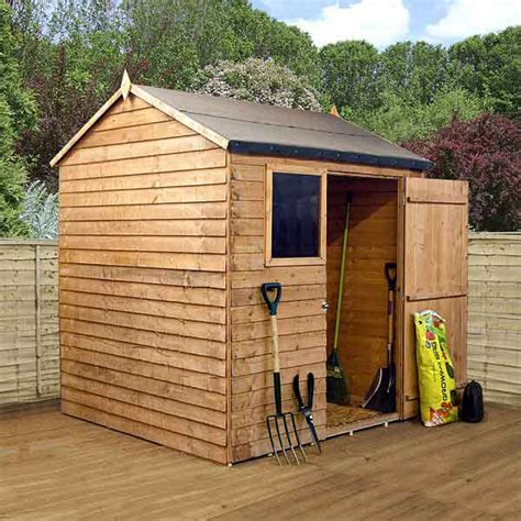 Used Wooden Sheds by 6ft Garden Shed Single Door Apex Wooden Sheds