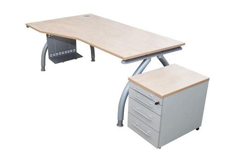 Schreibtisch Ahorn by Arbeitsplatz Gebraucht Freiformschreibtisch Rollcontainer
