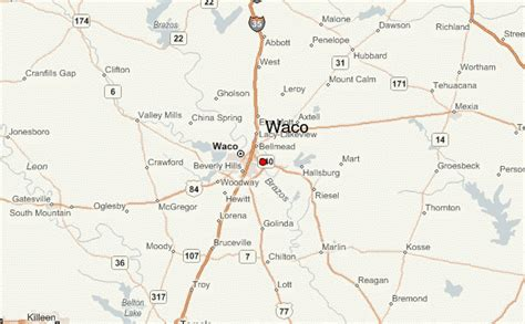 waco texas on a map waco location guide