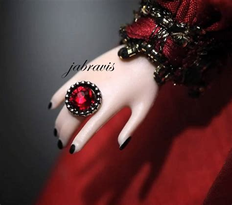 hand  direct exclusive barbie collector haunted beauty vampire doll