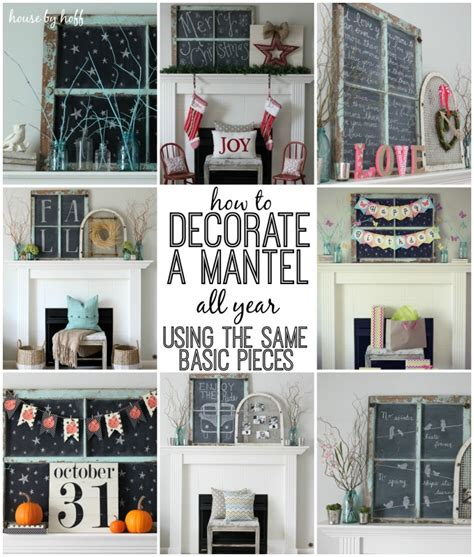 how to decorate a home how to decorate a mantel all year using the same basic