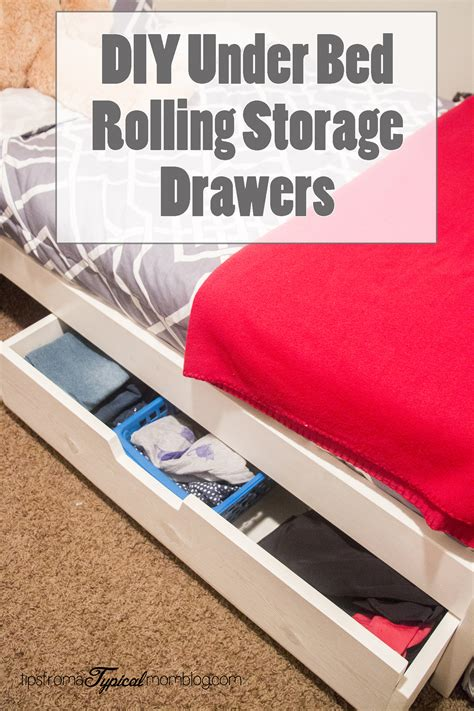 diy under bed rolling storage drawers tutorial tips from a typical mom
