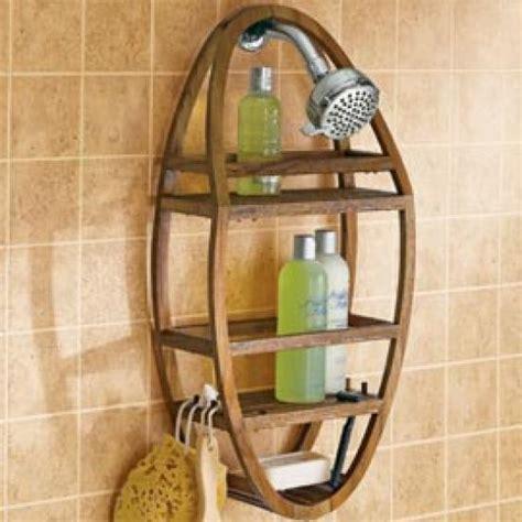 Bathroom Caddy Storage Teak Shower Caddy