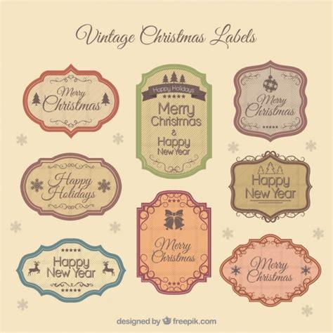 Nostalgische Aufkleber Marmelade by Vintage Christmas Etiketten Download Der Kostenlosen Vektor