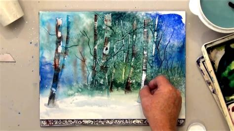 7 Painting Techniques by How To Scrape Paint For Watercolor Tree Effects