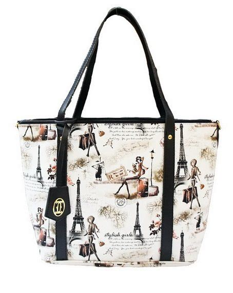 Tas Wanita Fashionable Andinne Navy Tote Bag printed tote bag tas wanita handbag trendy bag new collection