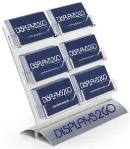 business card rack 6 pocket vertical card rack contact holder w silver base