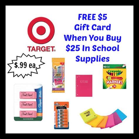 Big 5 Gift Cards - target deal free 5 gift card on school supplies