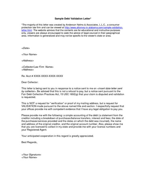 Proof Of Debt Letter Uk Debt Validation Letter Template Template Design