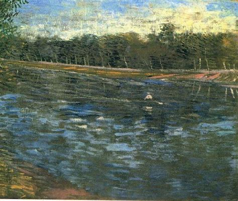 langste roeiboot the seine with a rowing boat 1887 vincent van gogh