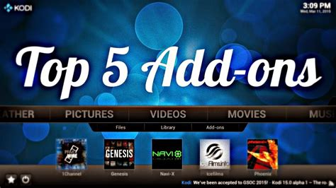 best addon xbmc top 5 kodi add ons in 2015 tutorialxware