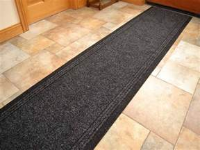 Rubber Backed Runner Rugs Black Heavy Duty Non Slip Rubber Backed Runners Narrow Rugs Mat Ebay