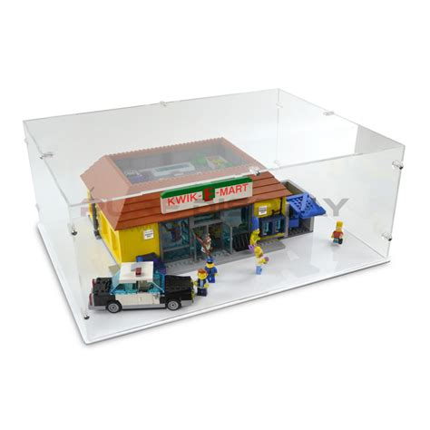 Display Box Lego White display for lego 71016 kwik e mart