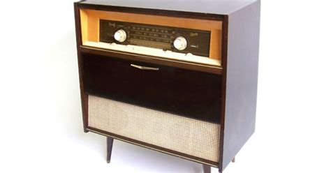 vintage stereo cabinet radio record player retro turntable