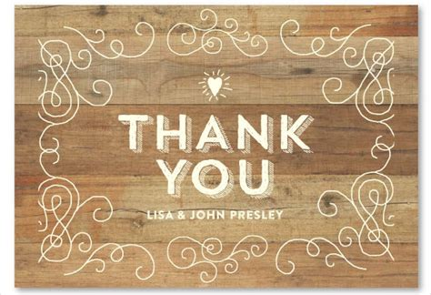 Free Printable Rustic Thank You Cards | 10 rustic thank you cards free sle exle format