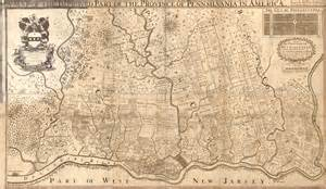 Pennsylvania Colony Map by Proprietary Colony Map Of The Pennsylvania Colony