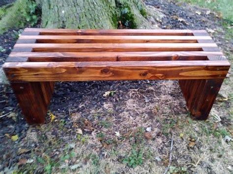 Handmade Wooden Garden Furniture - handmade rustic outdoor wooden bench bigdiyideas