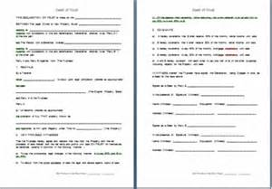 trust deed template uk free deed of trust to apportion beneficial interest in