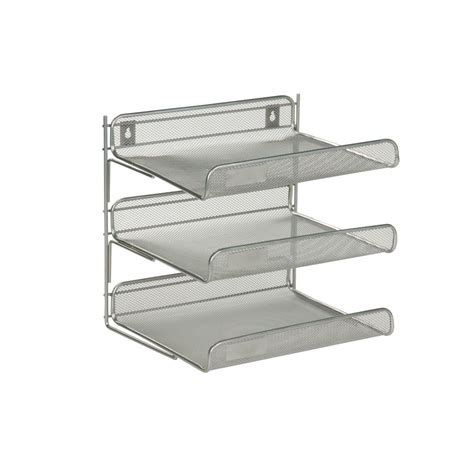 3 tier desk organizer honey can do 3 tier steel desk organizer in silver ofc