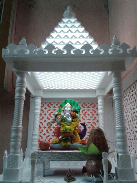 thermocol temple ganapati decoration decorating