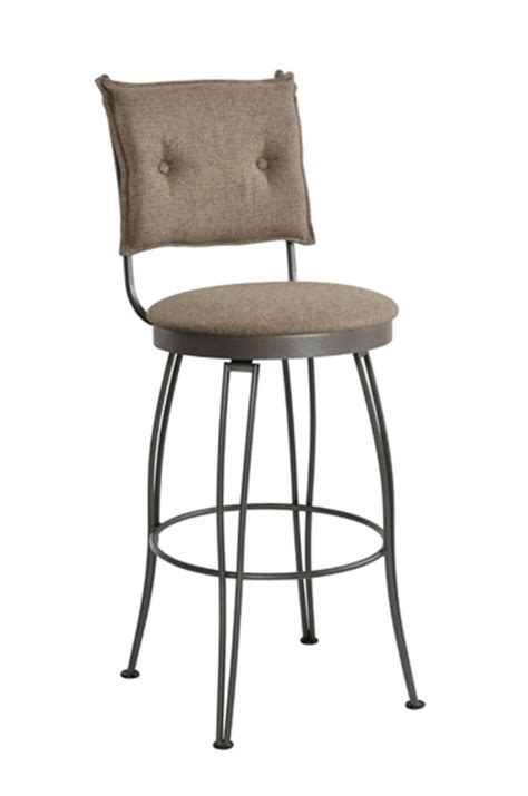 trica grace 30 brushed steel bar stool w swivel trica bill swivel stool w button tufted upholstered back