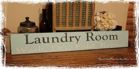 large wooden signs home decor laundry room wash dry fold repeat large wood sign