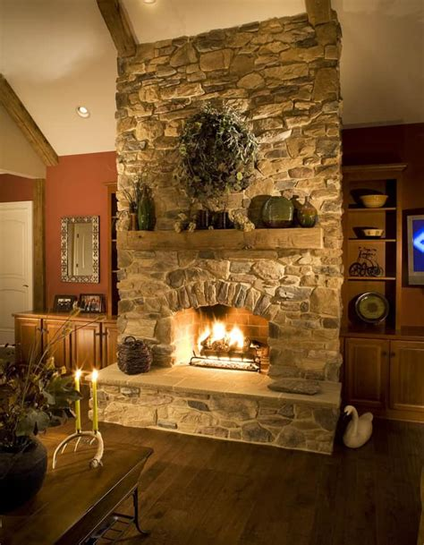 Stones Fireplace by 25 Fireplace Ideas For A Cozy Nature Inspired Home