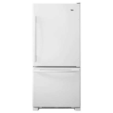 amana 24 49 cu ft side by side refrigerator in white