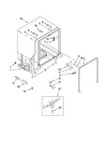 Dishwasher Parts Kenmore Tub And Frame Parts Diagram Parts List For Model
