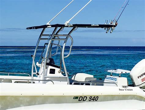 dolphin pro boat t top dolphin pro2 t top anodised frame w black canopy dolphin