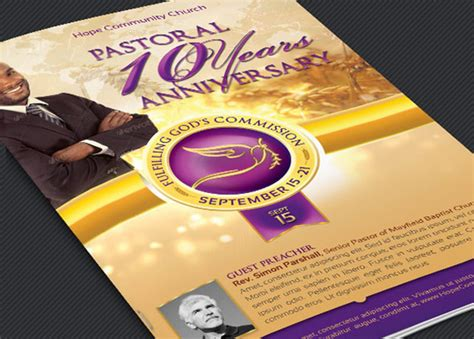 50th Wedding Anniversary Gospel Songs by Clergy Anniversary Service Program Template Inspiks Market