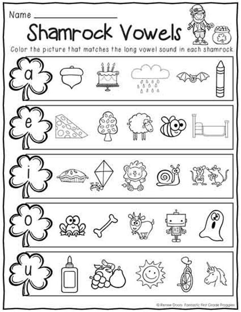 printables march print and do no prep math and literacy