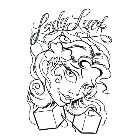 lady luck tattoo designs luck design