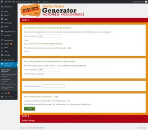 Giveaway Generator - getting started wordpress raffle ticket generator for woocommerce