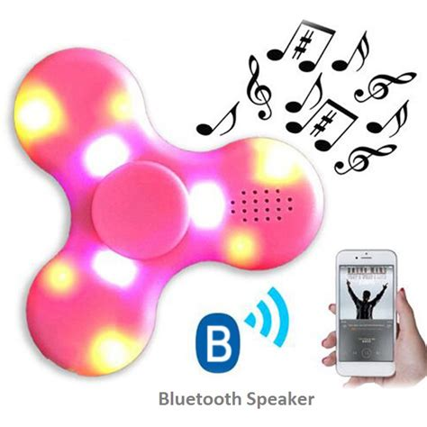 Fidget Spinner Bluetooth Led fidget spinner with led lights usb charging bluetooth