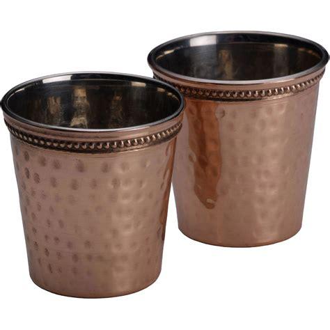 Copper Bar Glasses Mikasa Hammered Copper 2 Pc Glass Set Bar