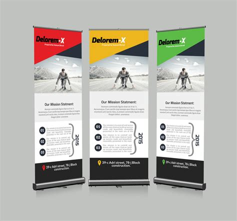 templates for roll up banners roll up business banners template by designhub719 on