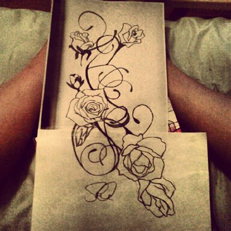 tattoo rose vine and vine sketch by sd2kool4u on deviantart