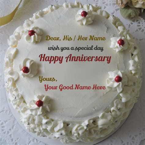 Wedding Anniversary Wishes Editing by Wedding Anniversary Cake Images With Name Editing