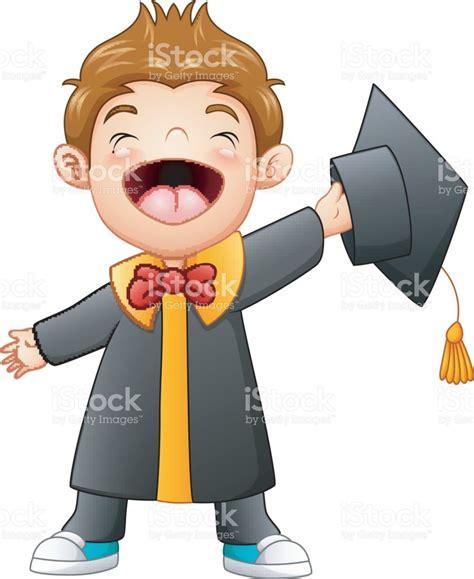 imagenes niños graduacion dibujos animados de ni 241 o feliz graduaci 243 n arte vectorial